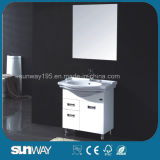Australia Style Semi Round Bathroom Cabinet with Ceramic Basin (SW-PVC8222-800)