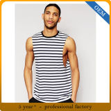 Custom High Quality Mens Black and White Stripe Top