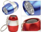 Aluminum Keychain Flashlight with 6 LED Lights (4051)