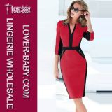 Hot Sale Office Elegant Women Celebrity Dress (L36002-2)