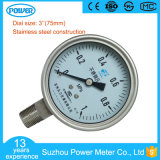 OEM 3inch 75mm Stainless Steel Construction Manometer Customize Range