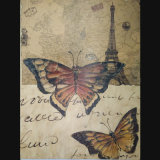 Customizable Home Decorative Antique Art Butterfly Painting (LH-153000)