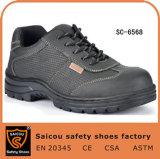 Saicou Breathable Rubber Sole Steel Toe Men Safety Work Shoes Sc-6568
