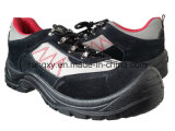 Low-Cut Black Suede Sport Style Safety Shoes (HQ03031)