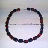 Semi Precious Stone Crystal Red Tiger Eye Jewelry Fashion Necklace (ESB01394)
