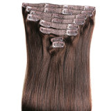 Natural Brownunprocessed 7A Clip in Virgin Remy Indian Hair Extensions