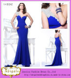 New Designer Sexy Royal Blue One Shoulder Sweetheart Backless Long Chiffon Ladies Long Evening Party Wear Gown (MN1418)