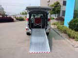Manual wheelchair ramp for vans