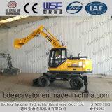 2017 Hot Sale New Small Yellow Excavators 8.5ton Wheel Excavators