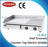 Half Grooved Counter Top Electric Griddle for Steak
