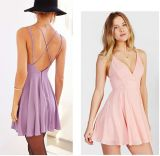 OEM Women Clothes Latest Backless Women Chiffon Dresses