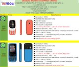 Cellphone 3300 Function Mobile Phone GSM Quad Band with Whatsapp