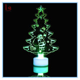 Hot Sale Acrylic Colorful Crystal LED Night Christmas Tree Light