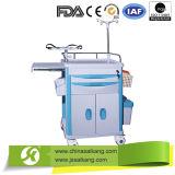 Hospital Furniture Luxury ABS Transport Nursing Trolley