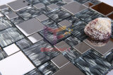 Silk Backed Crystal Mix Stainless Steel Mosaic Tile (CFM844)