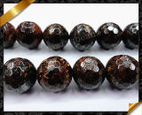 Natural Bronzite Beads Faceted Round Brown 10mm Gemstone Jewelry Beads (GB096)