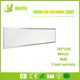 Flat White Frame CRI80 60X120cm LED Panel Lighting with 3 Years Warranty