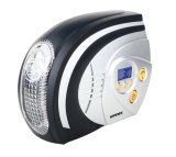 Automatic 12V Silver Panel Preset Digital Air Compressor Car Tire Inflator with Light