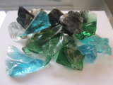 Colored Glass Rocks. Tumbled Landscape Glass.