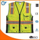 Cool Polyester Black Series Heavy Duty Safety Reflective Vest