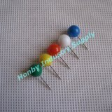 17mm Colored Plastic Round Ball Head Map Push Pin (H0104A)