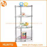 4-Shelf Chrome Bathroom Shelving, Wire Storage Rack, Corner Rack Shoe Rack (30L*30W*80H cm)