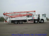 hongda concrete pump with boom