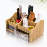 All in One Wooden Storage Holder with 2 Drawers