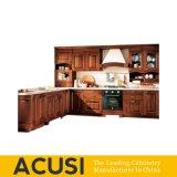 New Premium Wholesale L Style Solid Wood Kitchen Cabinet Kitchen Furniture (ACS2-W14)