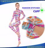 Super Stretchy Neoprene Women Camouflage Surfing Suit for Diving