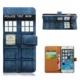 OEM Printing Wallet PU Leather Phone Case Back Cover for iPhone 6