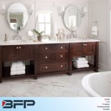 Luxury Solid Wood Bathroom Cabinet Double Basin with Shlef