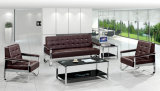 Modern Europe Design Steel Metal Leather Waiting Office Sofa (NS-S8801)
