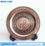 Metal Crafts Alloy Casting Bronze Souvenir Plate Custom Plaque