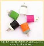 Customized Colors Us Plug Single USB 5V 1A Universal Cell Phone Charger