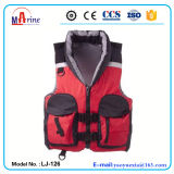 China Manufacturer 2 Big Pockets Water Sports Life Vest with Collar