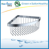 Wall Corner Mounted Triangle Stainless Steel Commodity Shelf