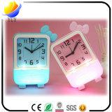 Multi-Color House Decoration Children Silicone Mini Alarm Clock