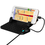 Silicone Anti-Slip Magnetic Adsorption Cable Charging Car Holder for iPhone Android