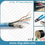Combo LAN Cable and Coaxial Cable (RG6Quad+CAT5 UTP) (CAT5 UTP+RG6Q)