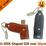 Swivel/Rotating Leather USB Flash Memory for Gift (YT-5105)