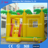 Yellow Inflatable Bouncy Castle with Slide Combo