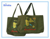 Island Map Design Army Green Totes