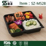 Sai Zhuo Disposable Plastic Lunch Box Thicker with a Square Five Partition Food Lunch Box