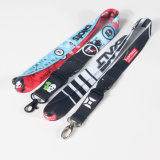 Popular Hot Custom Detachable Sublimation Logo Lanyard with Keychain