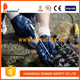Ddsafety 2017 Blue Nitrile Fully Coating Cotton Jersey Liner Knit Wrist Safety Working Glove