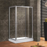 6mm Tempered Glass Rectangular Shower Enclosure, 6463 Al Profile