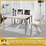 White Marble Stainless Steel Dining Table