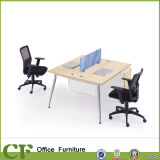 Simple Style Powder Coating Frame Employee Desk Office Workstation for 2 Person