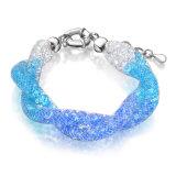 Gemstone Bracelet Graduated Color Crystal White Gold Jewelry Bracelet
